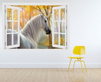 white-unicorn-in-forest-horse-autumn-fall