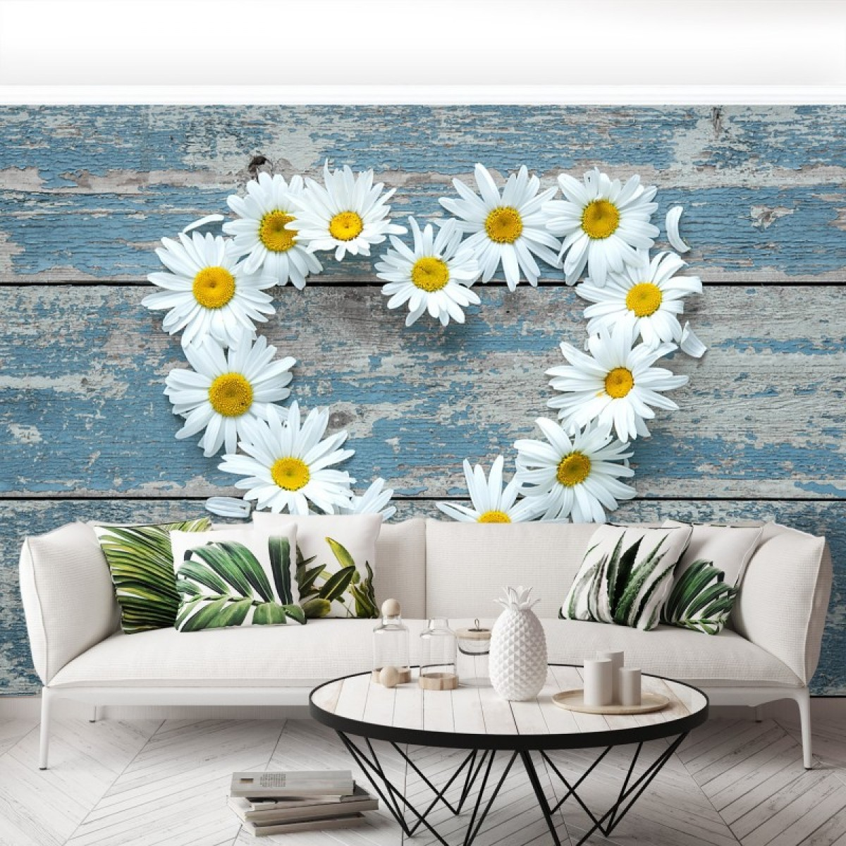 Peel And Stick Wallpapers And Blue Floral Motifs