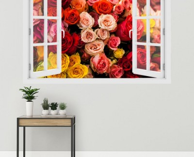 bouquet-of-multicolored-roses-floral