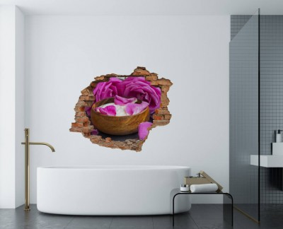 spa-pink-rose-lotion-flower-wooden